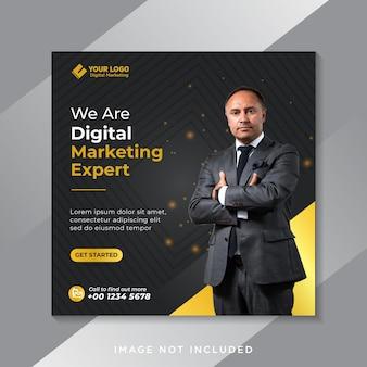 Plantilla de publicación de redes sociales de promoción de marketing de negocios digitales