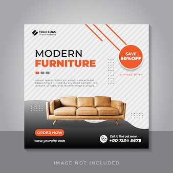 Plantilla de publicación en redes sociales para venta de muebles