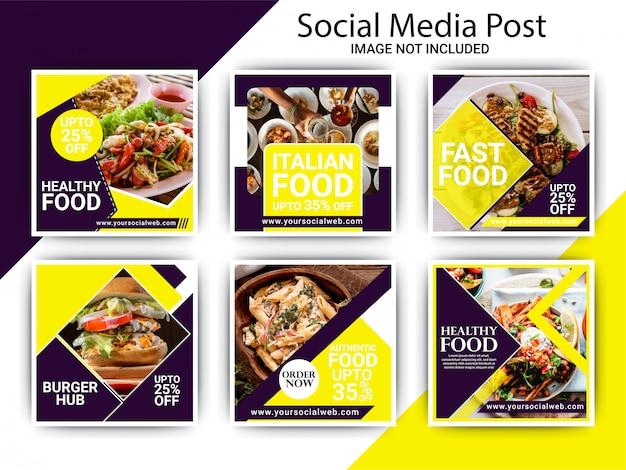 Plantilla de publicación de restaurante de comida