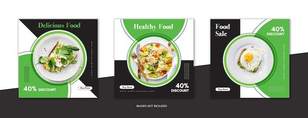 Plantilla de publicación de venta de alimentos para promoción de redes sociales premium