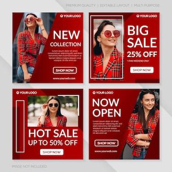 Plantilla de publicación de venta de moda