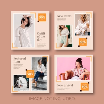 Plantilla de publicación de venta de redes sociales minimalista