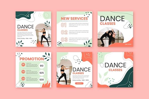 Plantilla de publicaciones de instagram bailando