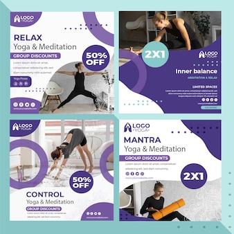 Plantilla de publicaciones de instagram de clase de yoga