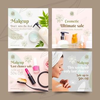 Plantilla de publicaciones de instagram cosmética