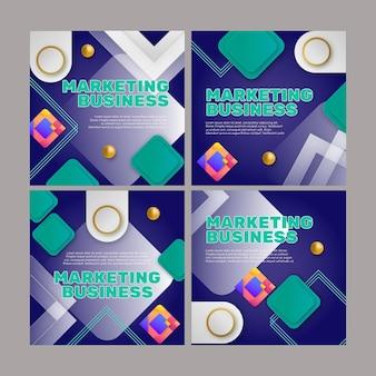 Plantilla de publicaciones de instagram de marketing empresarial