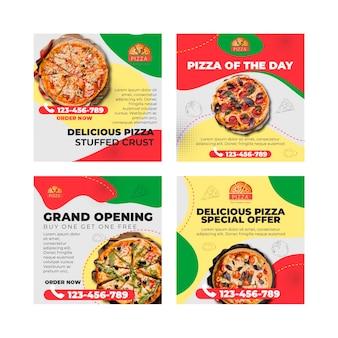 Plantilla de publicaciones de instagram de restaurante de pizza