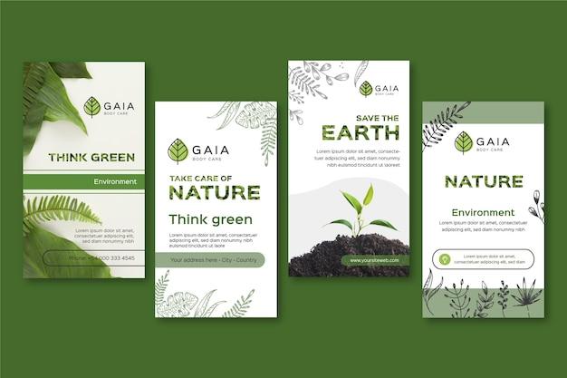 Plantilla de publicaciones de instagram de save the planet