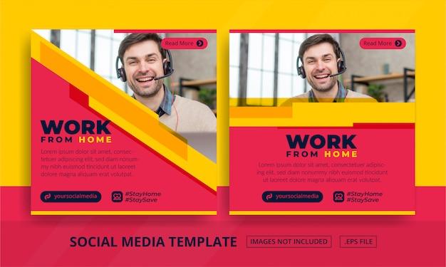 Plantilla de publicaciones en redes sociales
