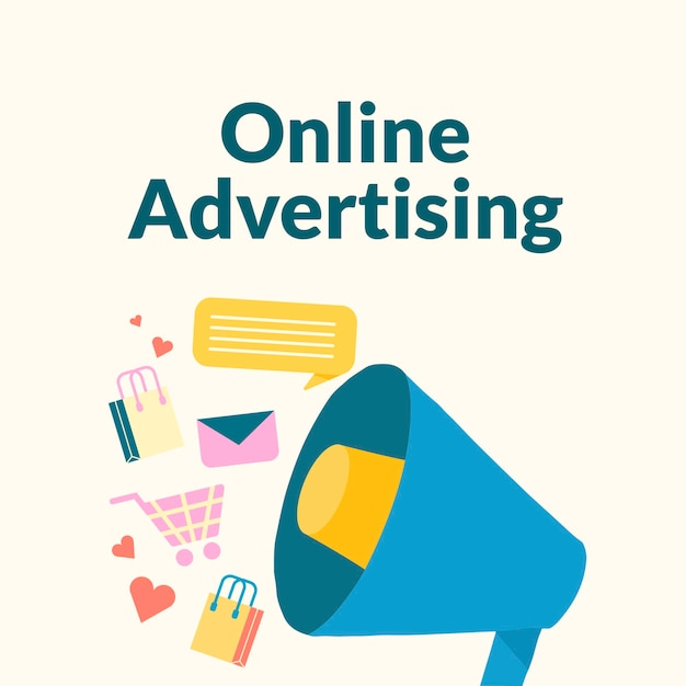 Plantilla de publicidad online editable para publicación en redes sociales