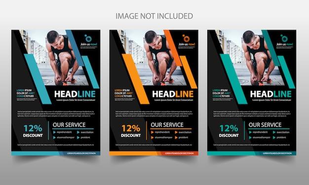 Plantilla de publicidad de portada de folleto de fitness