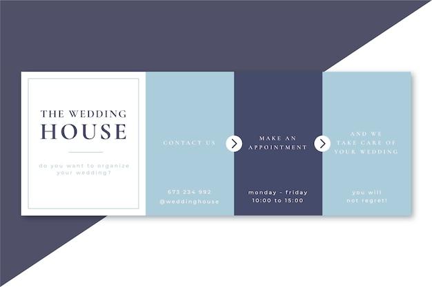 La plantilla de punto de información de la casa de bodas