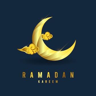 Plantilla ramadán kareem. ilustración a todo color.