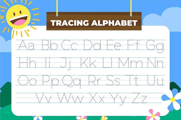 Plantilla de rastreo alfabético