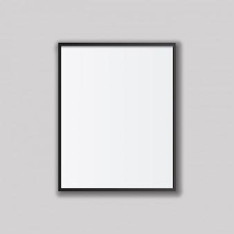 Plantilla realista de marco de foto