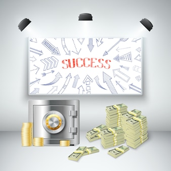Plantilla realista de la riqueza