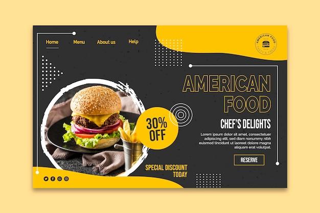 Plantilla de red alimentaria estadounidense