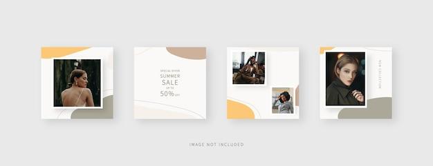 Plantilla de redes sociales plantilla de publicación de redes sociales editable de moda diseño de plantilla aislado