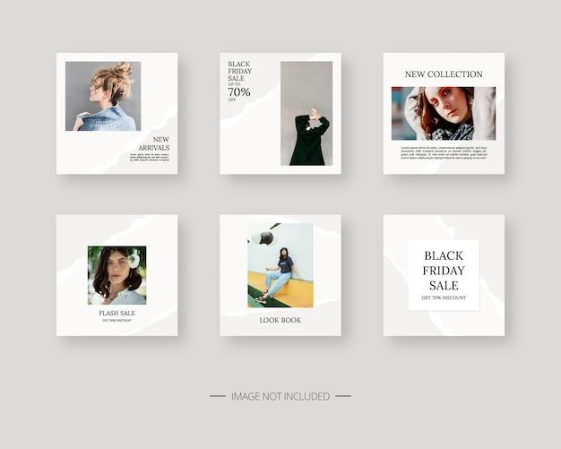 Plantilla de redes sociales. plantilla de publicación de redes sociales editable de moda. diseño de plantillas.