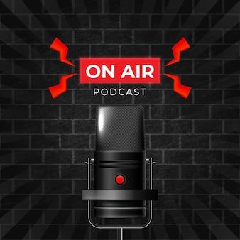 Plantilla de redes sociales de podcast