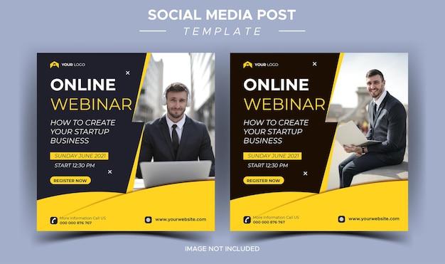 Plantilla de redes sociales de seminario web en vivo de marketing digital