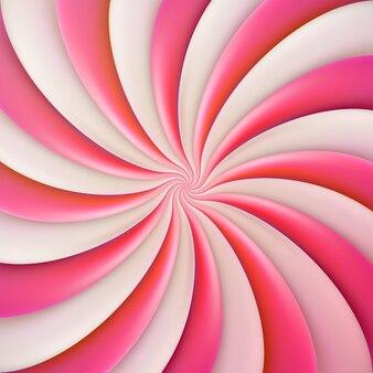 Plantilla redonda de caramelo dulce rosa.