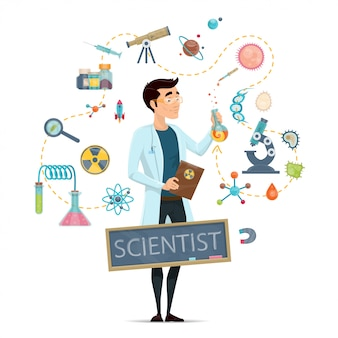 Plantilla redonda de ciencia
