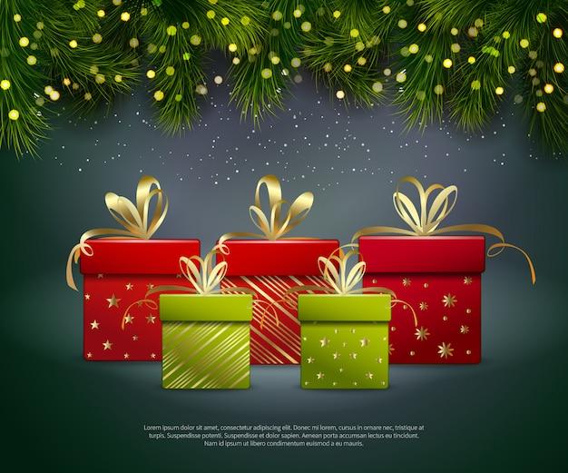 Plantilla de regalos de navidad