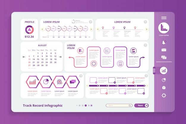Plantilla de registro de infografía