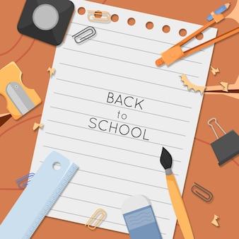 Plantilla de regreso a la escuela