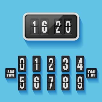 Plantilla de reloj de contador de aletas