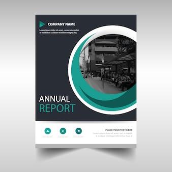 Plantilla de reportaje anual con círculo