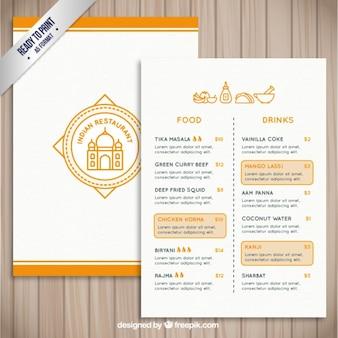 Plantilla de restaurante indio