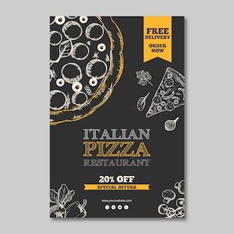 Plantilla de restaurante italiano