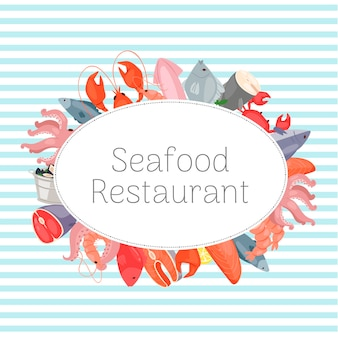Plantilla de restaurante de mariscos