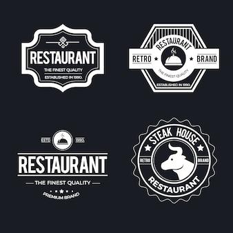 Plantilla de restaurante vintage logo set