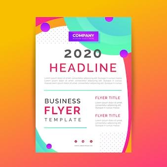 Plantilla de resumen de póster de negocios