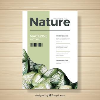 Plantilla de revista de naturaleza