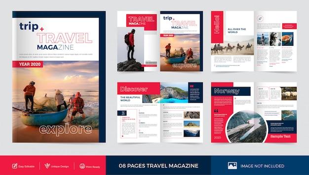 Plantilla de revista de viajes