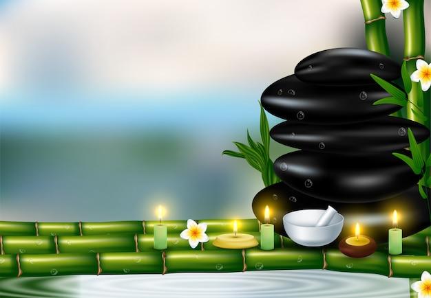Plantilla de salud y belleza con productos de cosmética spa natural.