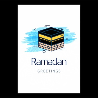 Plantilla de saludo de ramadán