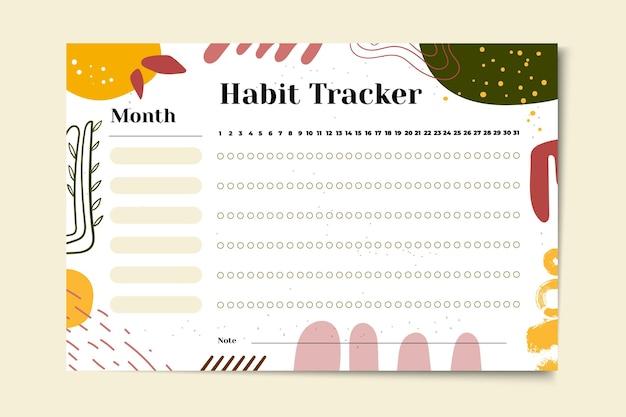 Plantilla de seguimiento de hábitos