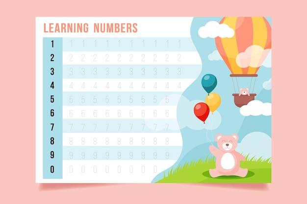 Plantilla de seguimiento de números