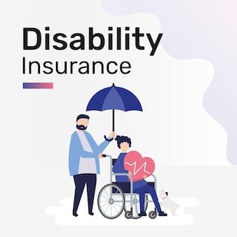 Plantilla de seguro de discapacidad para publicación en redes sociales