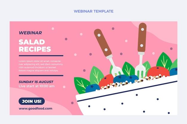 Plantilla de seminario web de comida plana