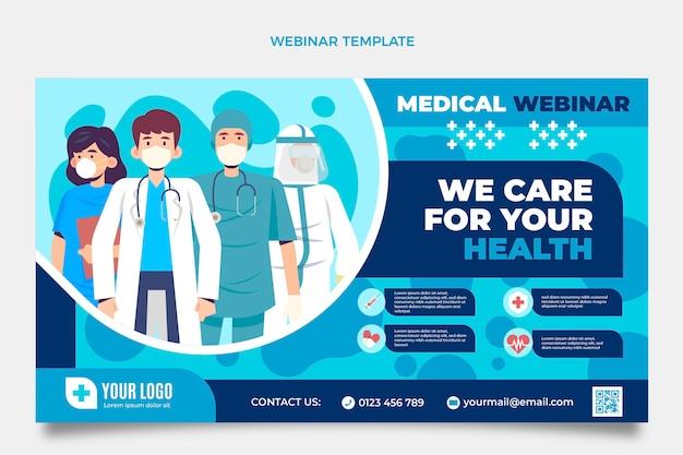 Plantilla de seminario web médico plano