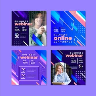 Plantilla de seminario web publicación en redes sociales