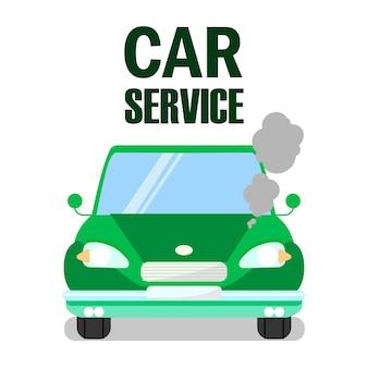Plantilla de servicio del automóvil sobrecalentado