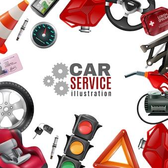 Plantilla de servicio de coche