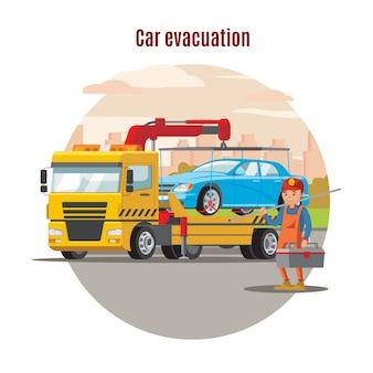 Plantilla de servicio de evacuación de transporte